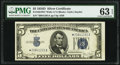 Fr. 1654* $5 1934D Wide I Silver Certificate. PMG Choice Uncirculated 63 EPQ