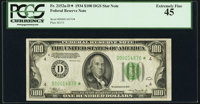 Fr. 2152-D* $100 1934 Dark Green Seal Federal Reserve Note. PCGS Extremely Fine 45