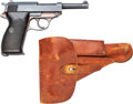 Handguns:Semiautomatic Pistol, German ac 43 P.38 Semi-Automatic Pistol with Leather Holster.. ...