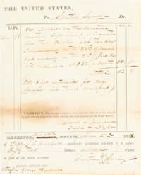 [Pickett's Charge]: General James L. Kemper Document Signed [DS]