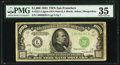 Fr. 2211-L $1,000 1934 Dark Green Seal Mule Federal Reserve Note. PMG Choice Very Fine 35