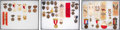 Miscellaneous:Ephemera, United Confederate Veterans [U.C.V.] Reunion and Event Badges and Ribbons.. ... (Total: 3 Items)