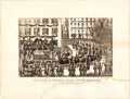 Political:Memorial (1800-present), Abraham Lincoln: Currier & Ives Print Of New York City Funeral.. ...