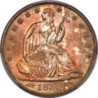 1855-O 50C Arrows MS66+ PCGS. CAC. WB-101, Unlisted Die Pair....(PCGS# 6283)