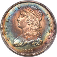 1831 25C Small Letters, B-2, R.2, MS65+ PCGS. CAC....(PCGS# 38981)