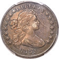 Early Dollars, 1795 $1 Draped Bust, Off-Center, B-14, BB-51, R.2, AU50 PCGS....