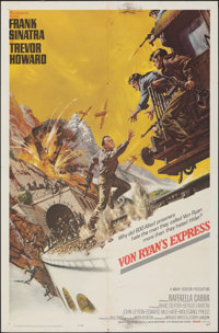 "Von Ryan's Express & Other Lot (20th Century Fox, 1965). Folded, Overall: Fine/Very Fine. One Sheets (2) (27"" X..."