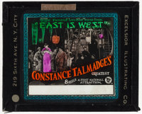 """East Is West & Other Lot (First National, 1922). Fine+. Glass Slides (2) (3.25"""" X 4""""). Comedy. ... (Total:..."""