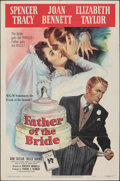 """Movie Posters:Comedy, Father of the Bride (MGM, 1950). Folded, Fine/Very Fine. One Sheet (27"""" X 41""""). Comedy.. ..."""