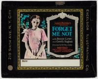 """Forget Me Not & Other Lot (Metro, 1922). Fine/Very Fine. Glass Slides (2) (3.25"""" X 4""""). Drama. ... (Total:..."""