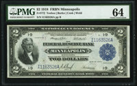 Fr. 772 $2 1918 Federal Reserve Bank Note PMG Choice Uncirculated 64