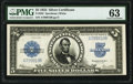 Fr. 282 $5 1923 Silver Certificate PMG Choice Uncirculated 63