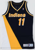 Basketball Collectibles:Uniforms, 1991-92 Detlef Schrempf Vintage Signed Indiana Pacers Jersey....