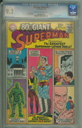 Silver Age (1956-1969):Superhero, 80 Page Giant 11 Lex Luthor (DC, 1965) CGC NM- 9.2 Cream to off-white pages.