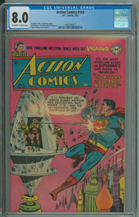 Action Comics #182 (DC, 1953) CGC VF 8.0 Off-white to white pages