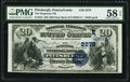Pittsburgh, PA - $20 1882 Date Back Fr. 552 The Duquesne National Bank Ch. # (E)2278 PMG Choice About U