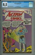 Silver Age (1956-1969):Superhero, Action Comics #249 (DC, 1959) CGC VF+ 8.5 Off-white pages.