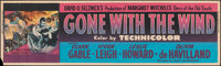 """Gone with the Wind (MGM, R-1954). Rolled, Fine+. Silk Screen Banner (24"""" X 82""""). Academy Award Winners"""
