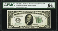 Fr. 2001-D $10 1928A Federal Reserve Note. PMG Choice Uncirculated 64 EPQ
