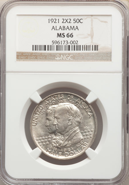 1921 50C Alabama 2X2, MS 66 NGC