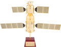 Explorers:Space Exploration, Chinese Shenzhou 5 Spacecraft Model Painted in 24kt Gold, Originally Presented to Yang Liwei, the First Chinese Taikonaut in S...