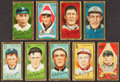 Baseball Cards:Lots, 1911 T205 Gold Borders Card Collection (9). ...