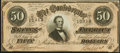 Confederate Notes:1864 Issues, T66 $50 1864 Crisp Uncirculated.. ...