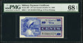 Military Payment Certificates:Series 661, Series 661 10¢ PMG Superb Gem Uncirculated 68 EPQ.. ...