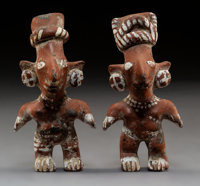 """Two Jalisco """"Sheep Face"""" Figures... (Total: 2 )"""