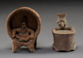 Pre-Columbian:Ceramics, Two Small Colima Figures... (Total: 2 )