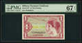 Military Payment Certificates:Series 641, Series 641 $1 PMG Superb Gem Uncirculated 67 EPQ.. ...