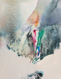 Chuang Che (b. 1934) Untitled Oil and acrylic on canvas 50-1/4 x 39 inches (127.6 x 99.1 cm) I
