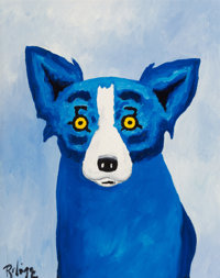 George Rodrigue (1944-2013) Blue Dog, 1996 Oil on canvas 14 x 11 inches (35.6 x 27.9 cm) Sign