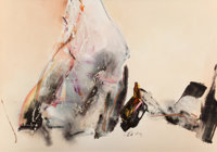 Chuang Che (b. 1934) Untitled, 1987 Oil and acrylic on canvas 34-7/8 x 49-1/2 inches (88.6 x 125