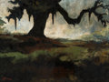 Paintings, George Rodrigue (American, 1944-2013). Arm of Oak, 1976. Oil on canvas. 9 x 12 inches (22.9 x 30.5 cm). Signed lower lef...