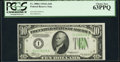 Fr. 2006-I $10 1934A Federal Reserve Note. PCGS Choice New 63PPQ