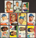 Baseball Cards:Lots, 1952 Through 1962 Bowman & Topps Baseball Collection (30) Plus Three Signed 1992 Mike Zollars Cards. ...