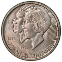 1939 50C Arkansas MS66+ PCGS. CAC. PCGS Population: (72/5 and 24/1+). NGC Census: (32/2 and 4/0+). CDN: $1,200 Whsle. Bi...