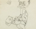 Animation Art:Production Drawing, Pecos Bill Animation Drawing (Walt Disney, 1954)....
