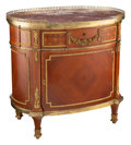 Furniture, A French Louis XVI-Style Ormolu Mounted Kingwood Oval Commode, 20th century. 33-1/4 x 34-1/2 x 23-3/4 inches (84.5 x 87.6 x ...