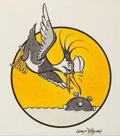 Animation Art:Production Drawing, Original WWII Insignia Painting by The Disney Studios (Walt Disney, c. 1940s)....