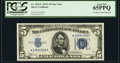 Small Size:Silver Certificates, Fr. 1651* $5 1934A Silver Certificate. PCGS Gem New 65PPQ.. ...