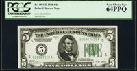 Fr. 1951-E $5 1928A Federal Reserve Note. PCGS Very Choice New 64PPQ