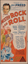 """Movie Posters:Rock and Roll, Mister Rock and Roll (Paramount, 1957). Folded, Very Fine-. Australian Daybill (13.25"""" X 30""""). Rock and Roll.. ..."""