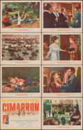 "Movie Posters:Western, Cimarron & Other Lot (MGM, 1960). Overall: Fine+. Lobby Card Sets of 8 (2 Sets) (11"" X 14""). Western.. ... (Total: 16 Items)"
