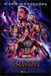 "Avengers: Endgame (Walt Disney Studios, 2019). Rolled, Very Fine+. One Sheet (27"" X 40"") DS Advance. Action..."