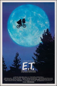 "E.T. The Extra-Terrestrial (Universal, 1982). Rolled, Very Fine+. One Sheet (26.75"" X 40.5""). Bicycle Style. S..."