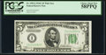 Fr. 1959-I $5 1934C Wide Federal Reserve Note. PCGS Choice About New 58PPQ