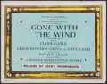 """Movie Posters:Academy Award Winners, Gone with the Wind (MGM, 1939). Fine/Very Fine. Color-Glos Title Lobby Card (11"""" X 14""""). Academy Award Winners.. ..."""