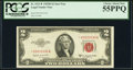 Fancy Serial Number 03033330 Fr. 1511* $2 1953B Legal Tender Note. PCGS Choice About New 55PPQ